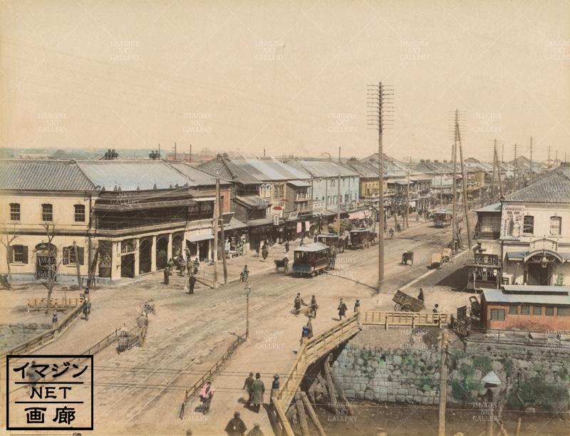 東京/新橋から銀座方面を見る/馬...
